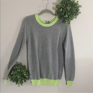 Lovers + Friends x REVOLVE gray/lime green sweater